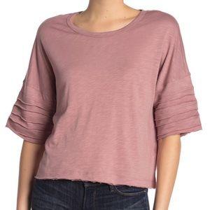 NWT Splendid Emerson Tiered Seam Pullover Shirt